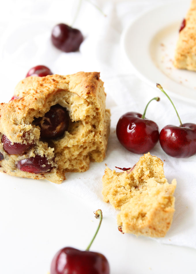 Almond Cherry Scones (with coconut sugar) | thekitchenpaper.com
