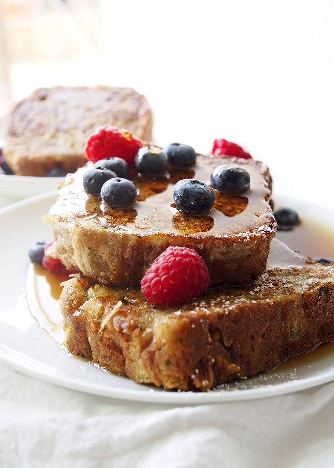 Coconut Zucchini Bread French Toast | thekitchenpaper.com