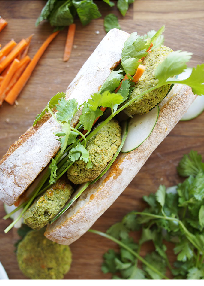 Vegan Falafel Banh Mi | thekitchenpaper.com