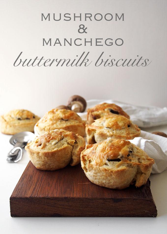 Mushroom & Manchego Buttermilk Biscuits | thekitchenpaper.com