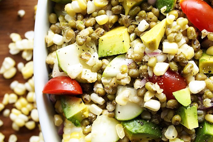 Summer Veggie Mung Bean Salad