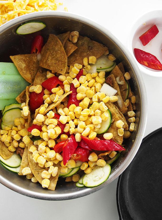 Chorizo Veggie Jimmy Nardello Chilaquiles | thekitchenpaper.com