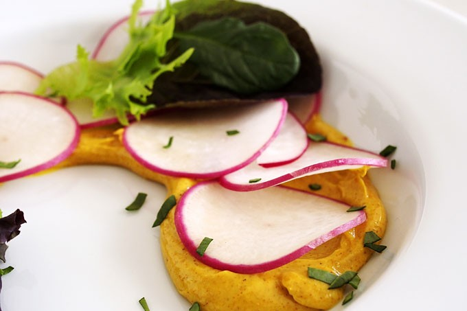 Curried Butter Radishes