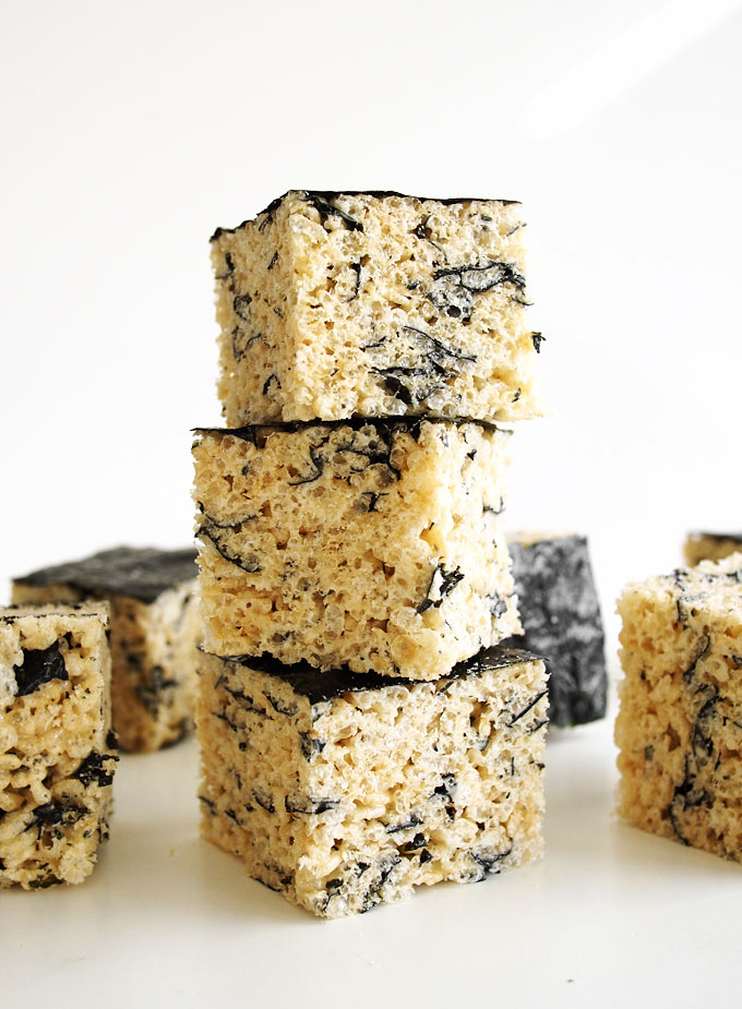 Nori Rice Krispie Treats | thekitchenpaper.com