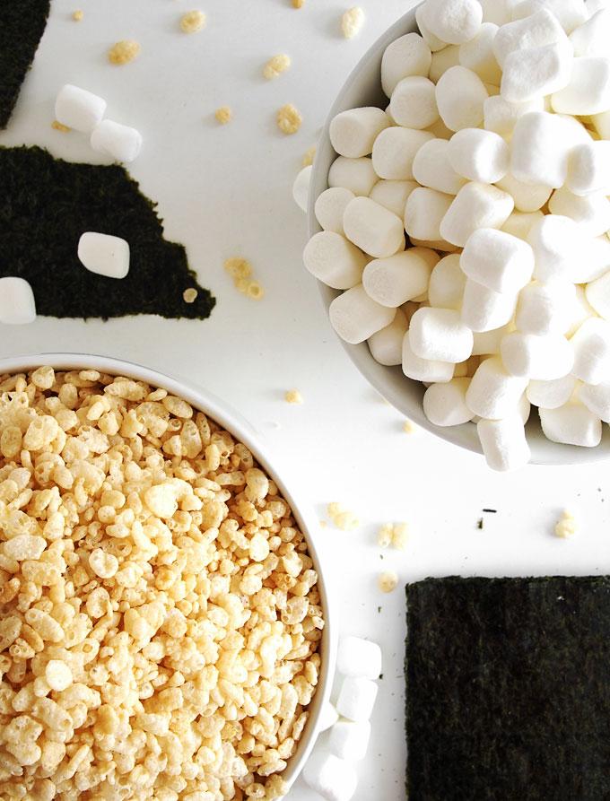 Nori Rice Krispie Treats | thekitchenpaper.com