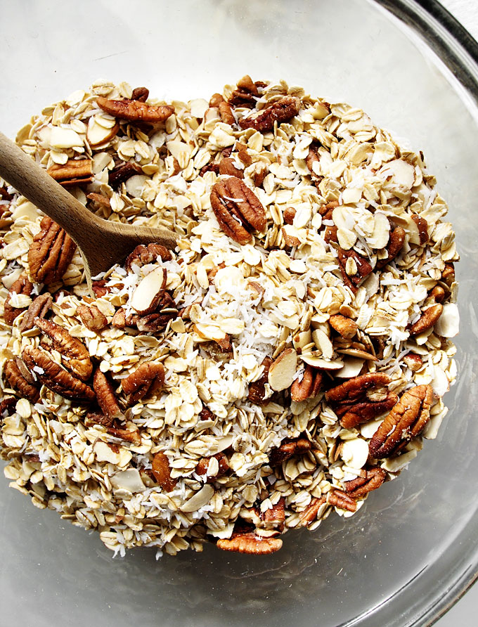 Nutty Cardamom Granola Recipe | thekitchenpaper.com