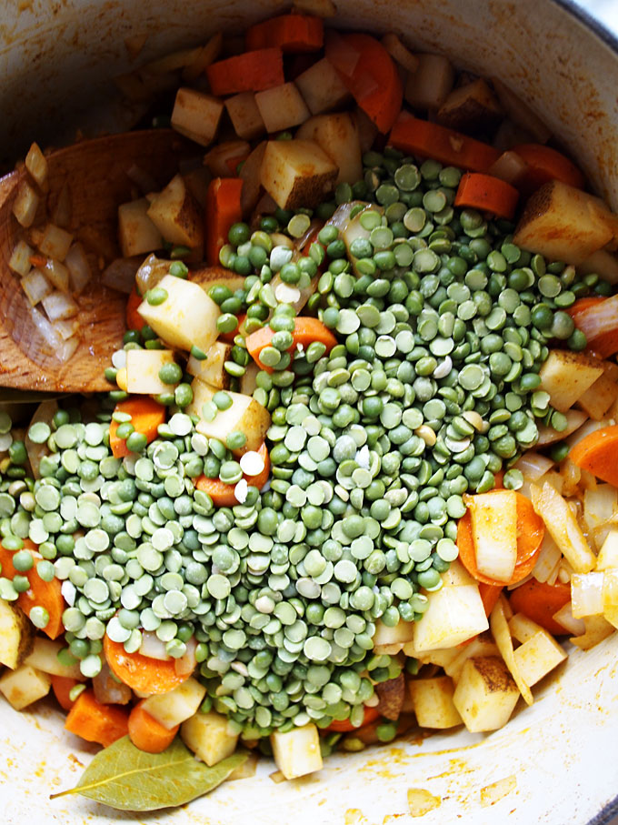 Smokey Potato Split Pea Chard Soup Recipe