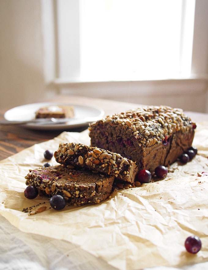 Cranberry Sweet Potato Buckwheat Seeded Bread