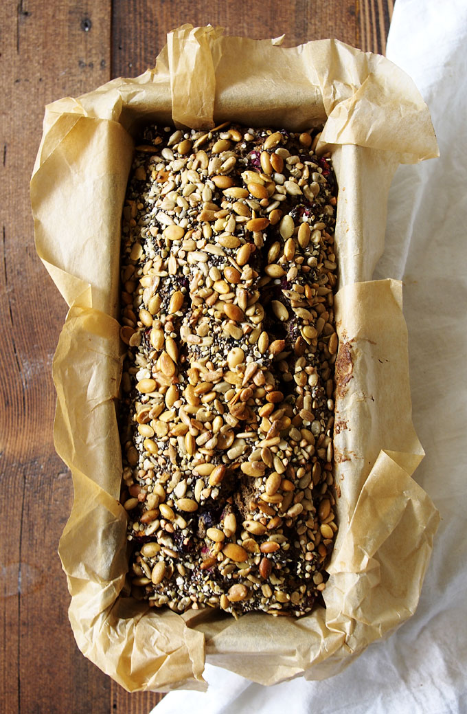 Cranberry Sweet Potato Buckwheat Seeded Bread | The Kitchen Paper