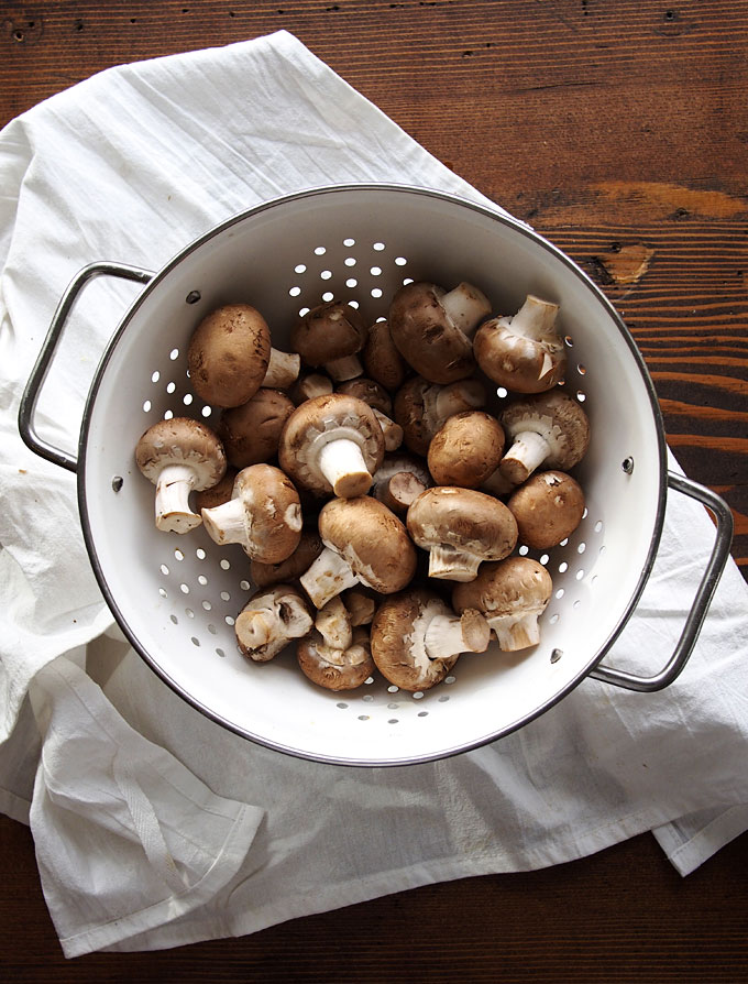 Herbed Mushrooms on Polenta with White Cheddar Recipe   thekitchenpaper.com