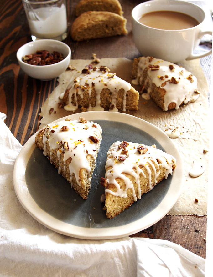 Orange Maple Pecan Scones