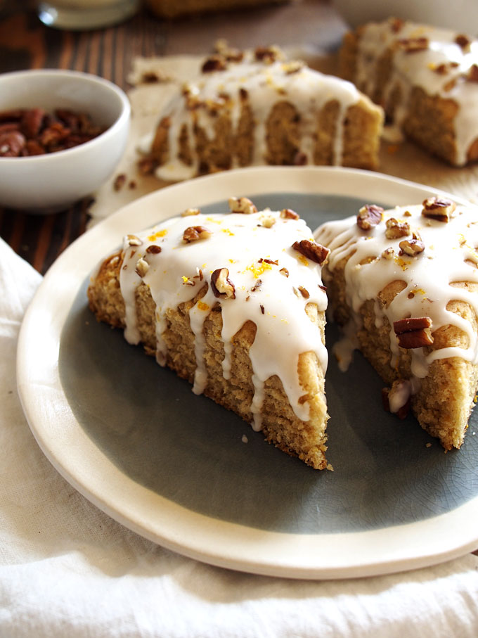 Orange Maple Pecan Scones | thekitchenpaper.com