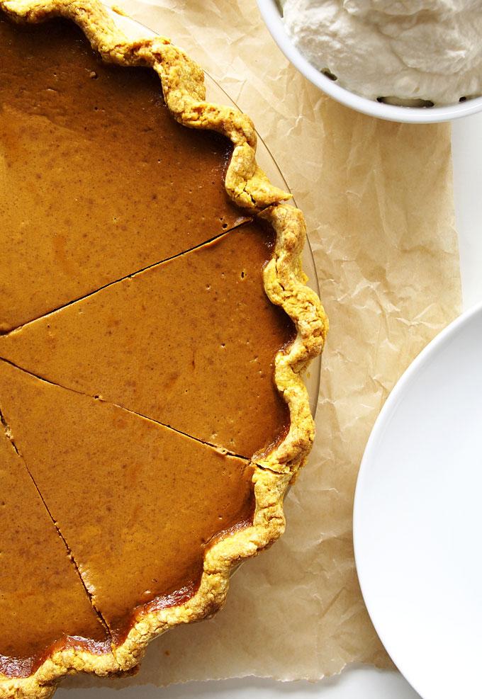 Coconut Sugar Classic Pumpkin Pie Recipe   thekitchenpaper.com