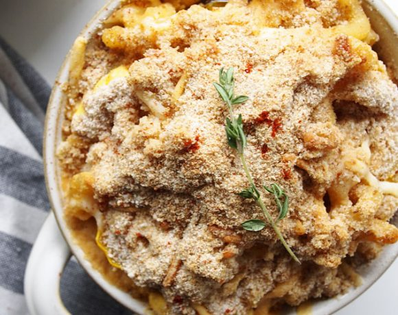 Smokey Delicata Baked Macaroni and Cheese | thekitchenpaper.com