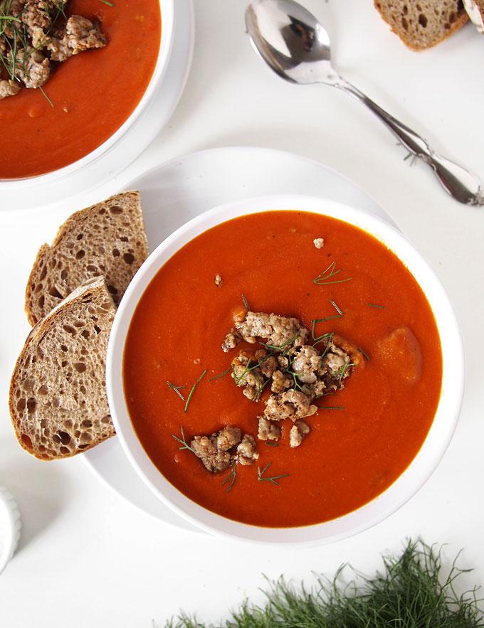 Tomato Sausage Fennel Soup