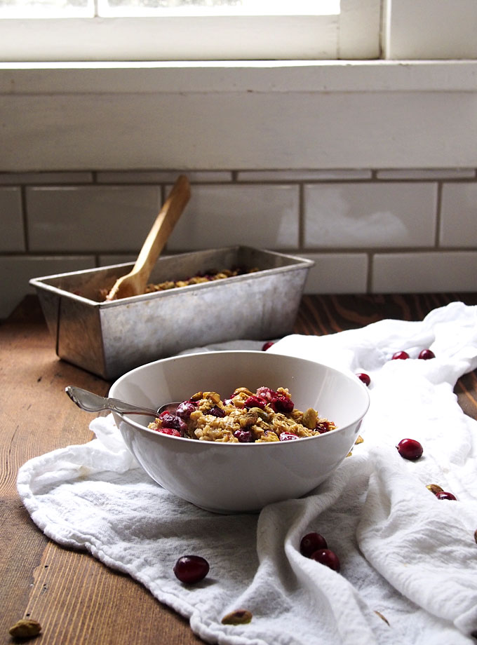 Cranberry Pistachio Baked Oatmeal