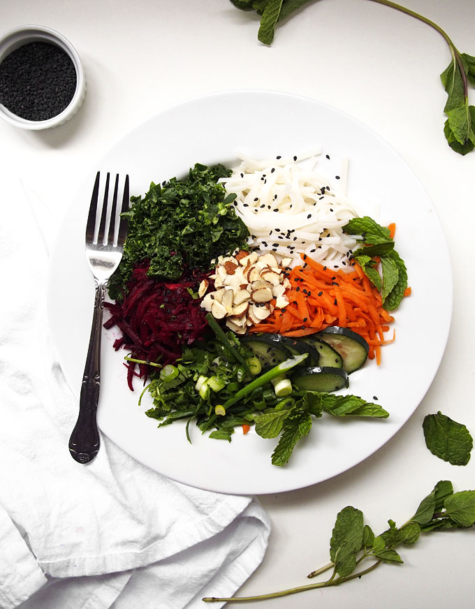 Rice Noodle Salad with Beets, Carrots, and Herbs | the kitchen paper