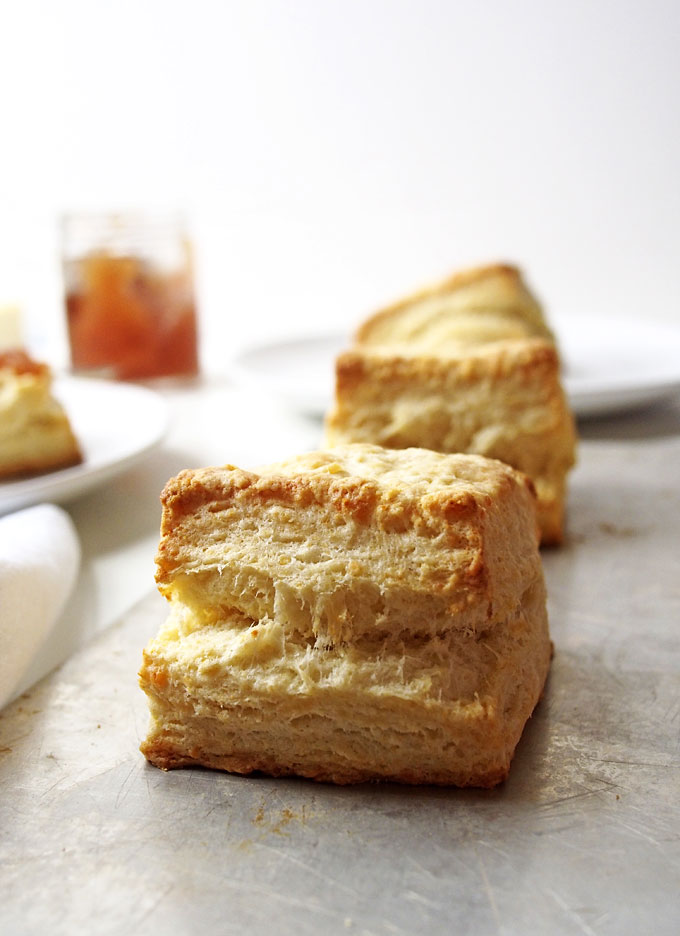 White Cheddar Buttermilk Biscuits Recipe | the kitchen paper