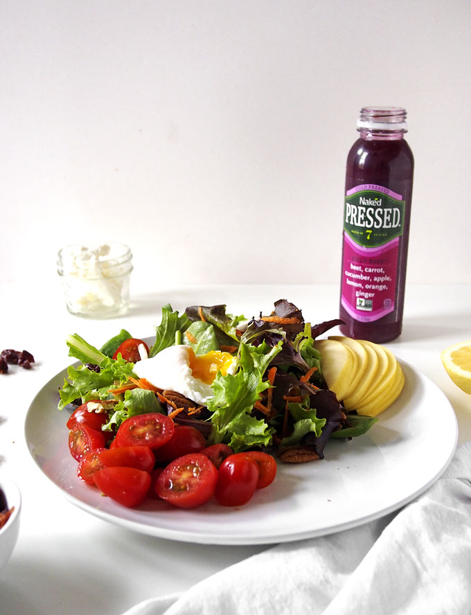 Simple Breakfast Salad with Poached Egg   the kitchen paper