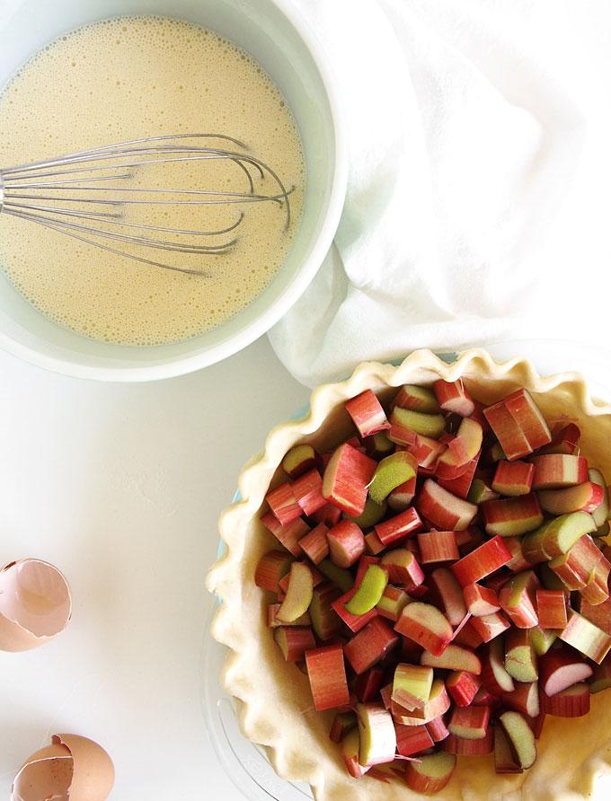Rhubarb Sour Cream Crumble Pie   the kitchen paper