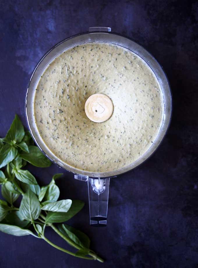 Basil Hummus Recipe | thekitchenpaper.com
