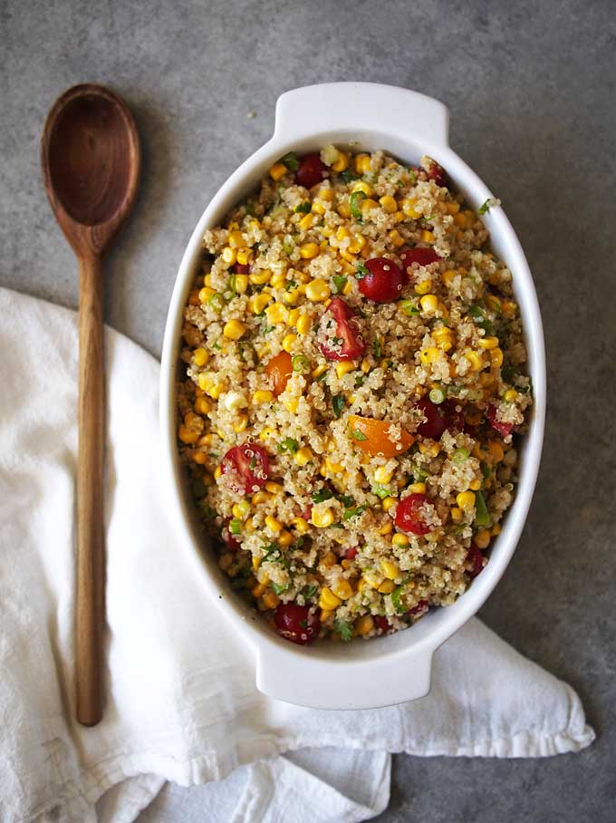 Summer Corn Quinoa Salad Recipe | thekitchenpaper.com