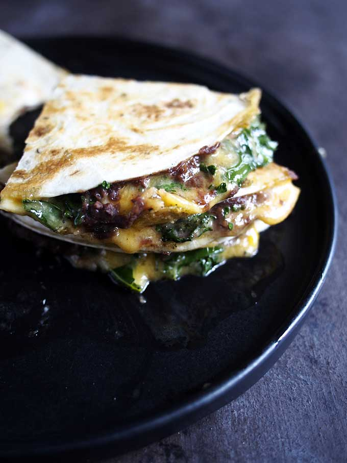 Kale Black Bean Quesadilla | thekitchenpaper.com