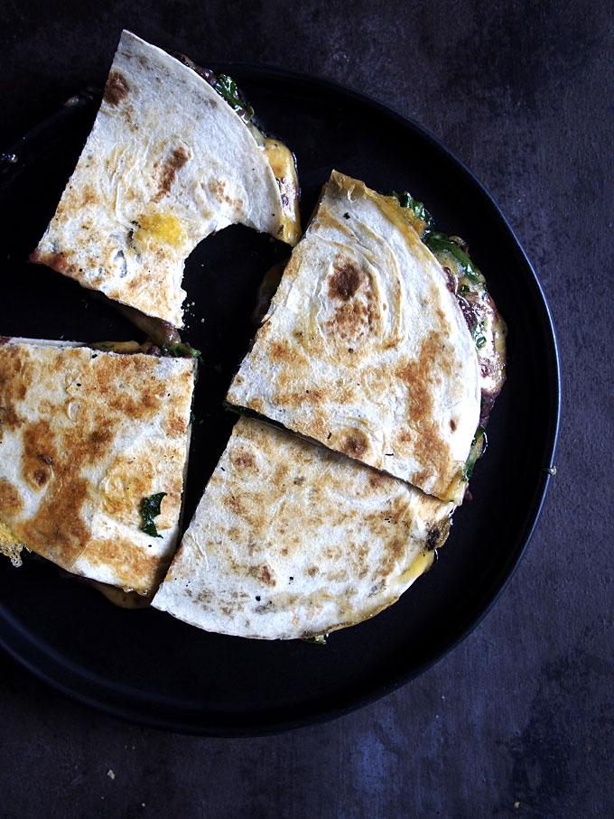Kale Black Bean Quesadilla   thekitchenpaper.com