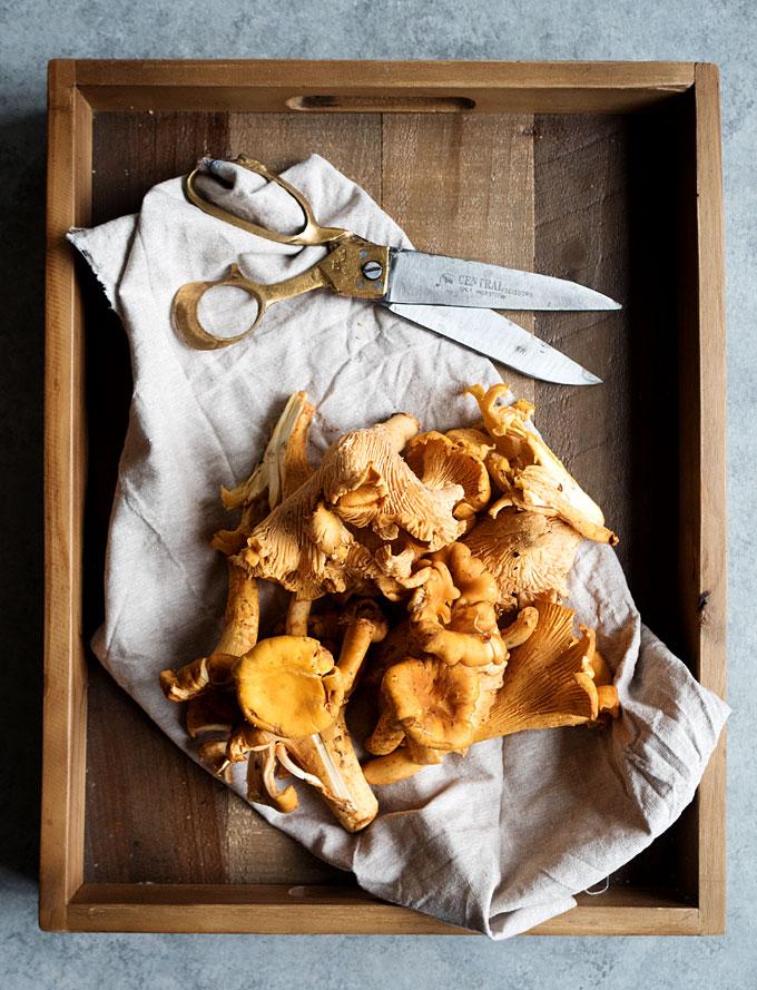 Wild Mushroom Chicken Skillet Pot Pie | thekitchenpaper.com