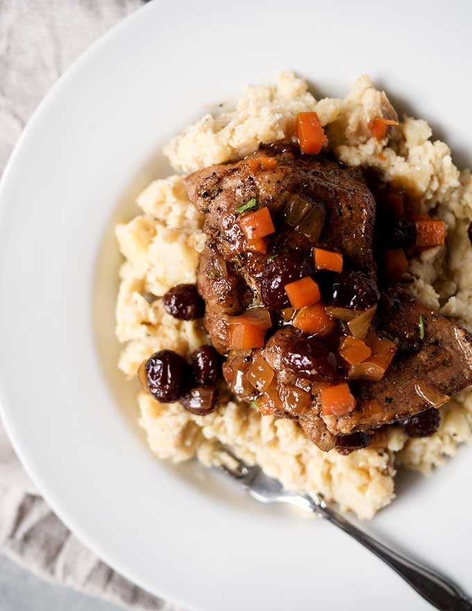 Maple Cranberry Braised Pork | thekitchenpaper.com