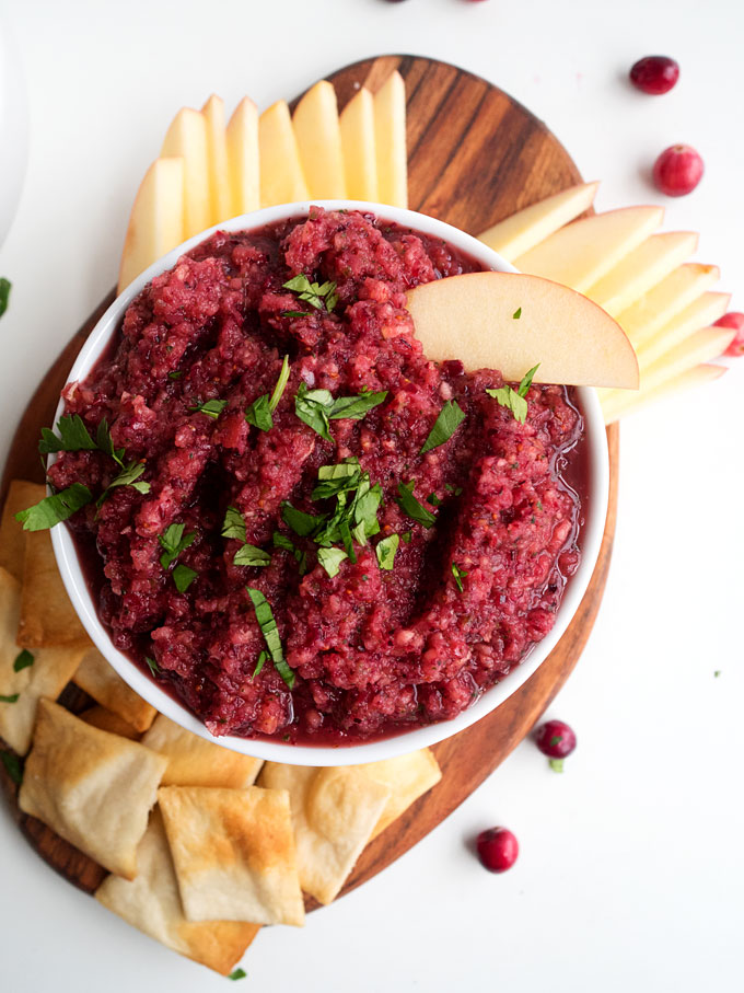 Apple-Cranberry Salsa | thekitchenpaper.com