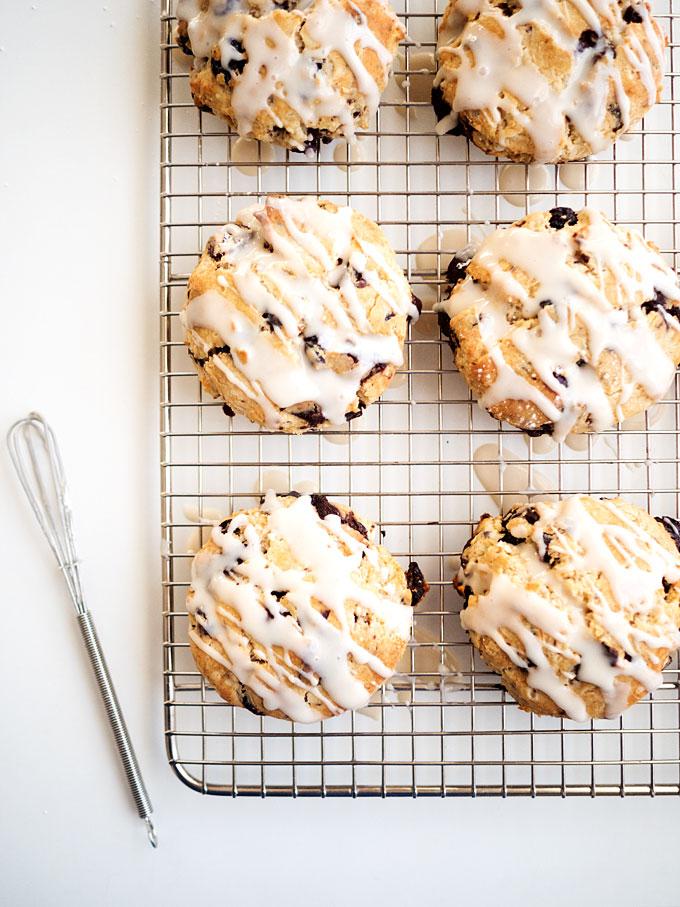 Dark Chocolate Cranberry Scones Recipe | The Kitchen Paper