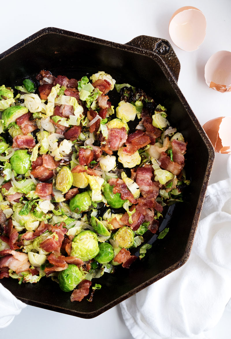 Whole30 Bacon Brussels Sprouts Frittata | The Kitchen Paper