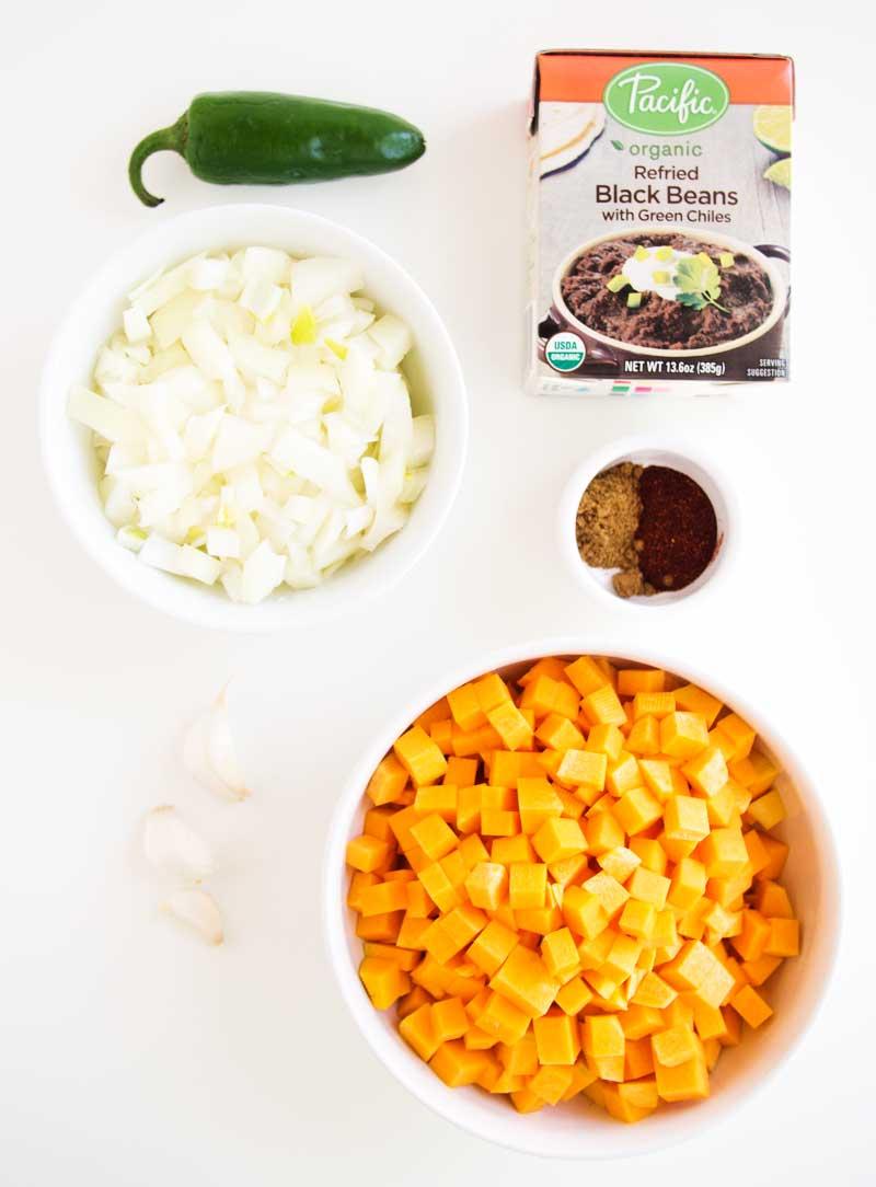 Butternut Refried Black Bean Empanadas | thekitchenpaper.com
