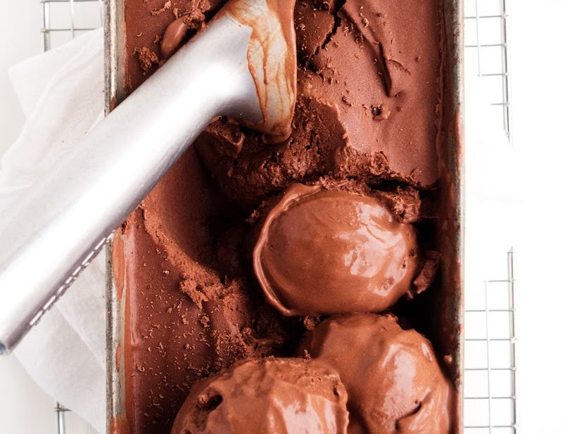 Vegan Chocolate Ice Cream | The Kitchen Paper