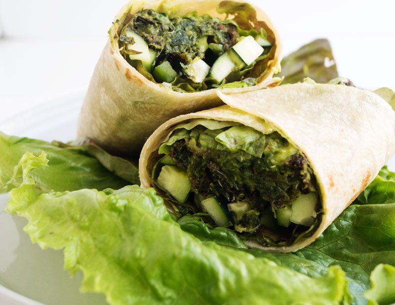 All Green Veggie Wrap | The Kitchen Paper