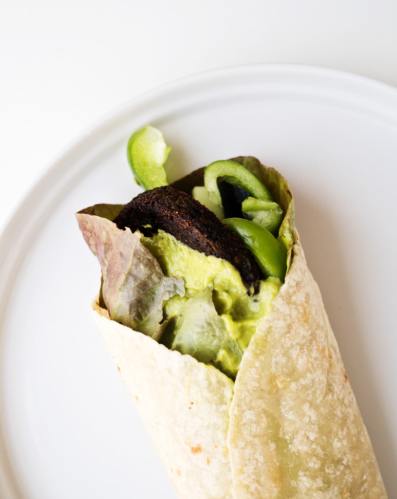 All Green Veggie Wrap | The Kitchen Paper