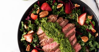 Chimichurri Steak Kale Salad | The Kitchen Paper