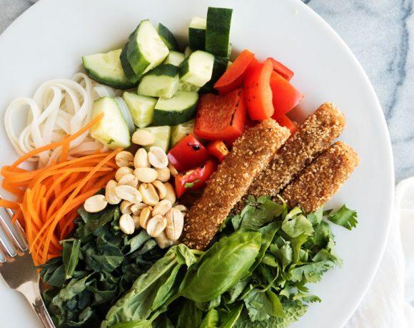Thai Fish Stick Noodle Bowls
