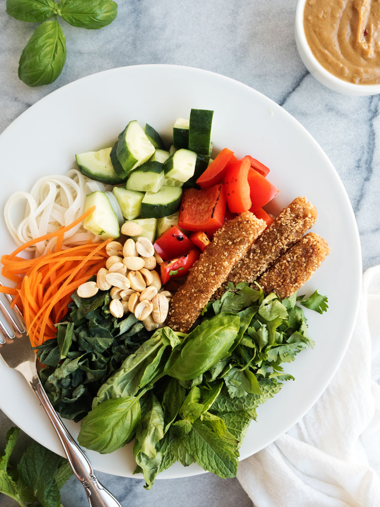 Thai Fish Stick Noodle Bowls | The Kitchen Paper