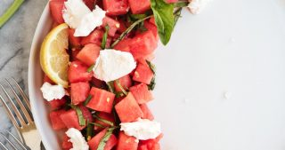 Watermelon Burrata Salad | The Kitchen Paper