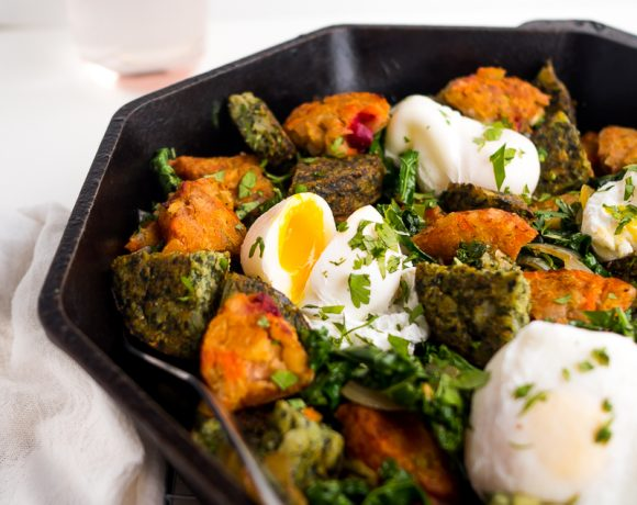 Root Vegetable and Greens Breakfast Hash