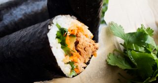 Korean Pulled Pork Nori Rolls | The Kitchen Paper
