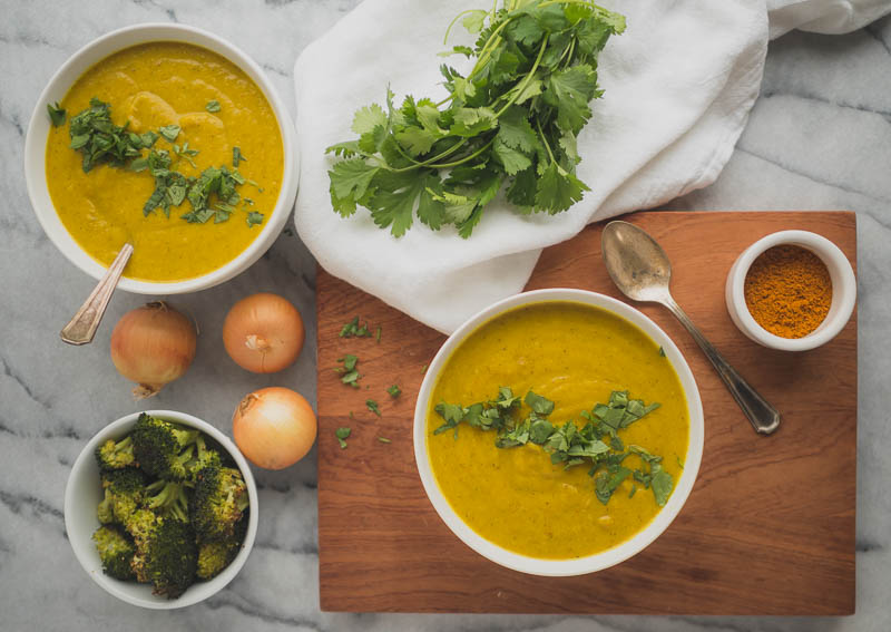 Turmeric Broccoli Soup | The Kitchen Paper