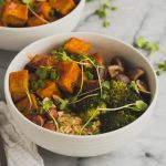 Vegan Red Pepper Tofu Bowl | The Kitchen Paper