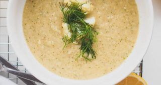 Dill Roasted Cauliflower Soup | The Kitchen Paper