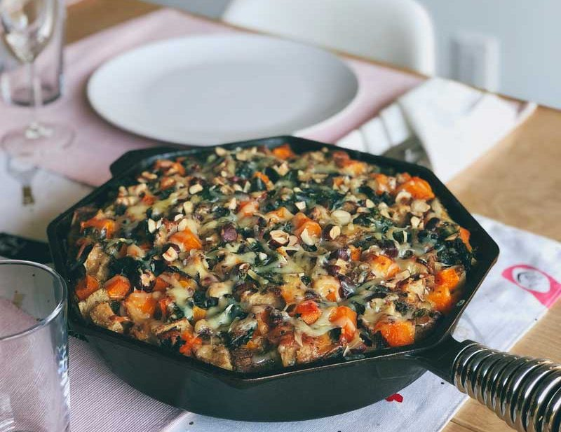 Winter Vegetable Gruyere Strata | The Kitchen Paper