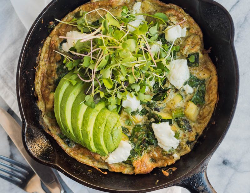 Super Greens Frittata | The Kitchen Paper