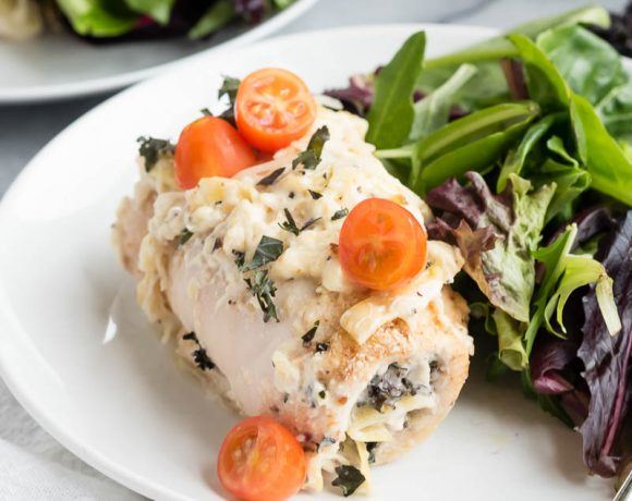 Kale Asiago Baked Chicken