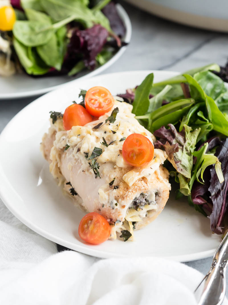 Kale Asiago Baked Chicken | The Kitchen Paper